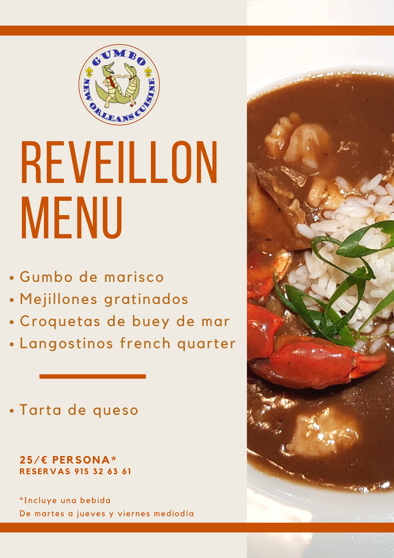 Reveillon - Gumbo Madrid